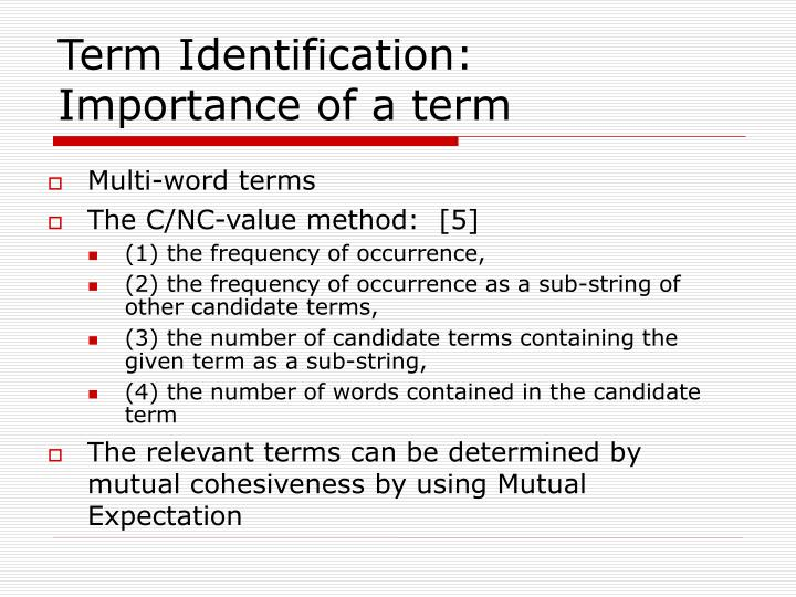 Term Identification: