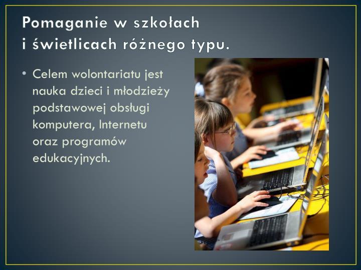 Pomaganie w szkołach