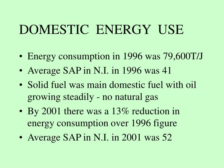DOMESTIC  ENERGY  USE