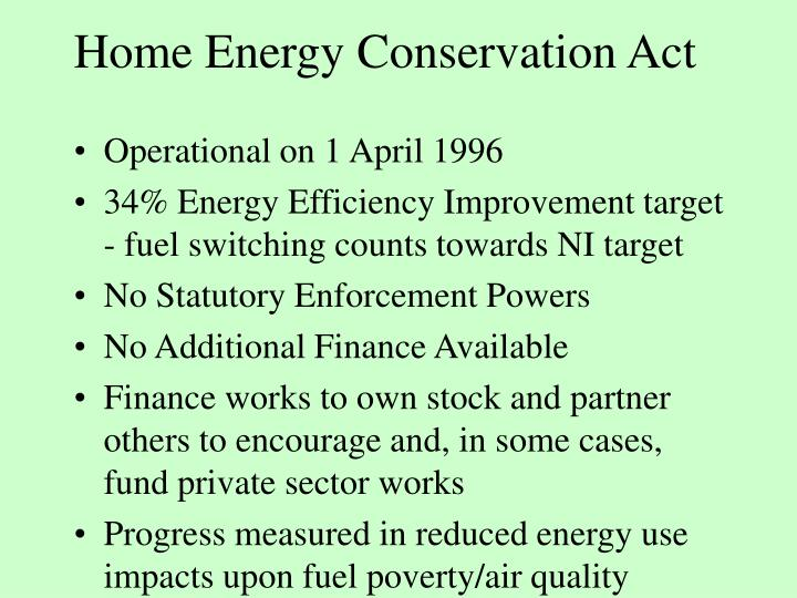 Home Energy Conservation Act