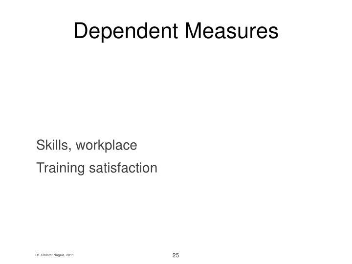 Dependent Measures