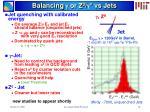 balancing or z 0 g vs jets