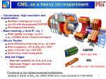 cms as a heavy ion experiment