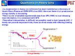 quarkonia in heavy ions