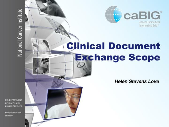 Clinical Document Exchange Scope