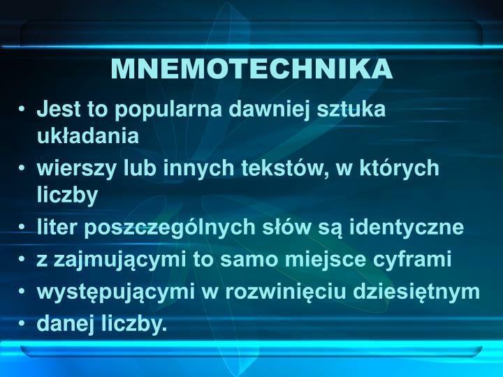 MNEMOTECHNIKA
