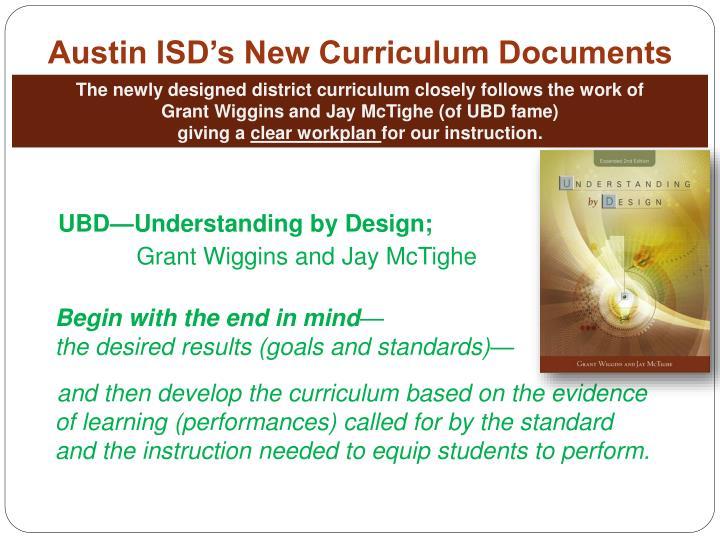 Austin ISD's New Curriculum Documents