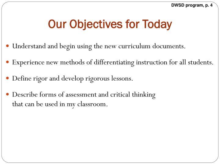 DWSD program, p. 4