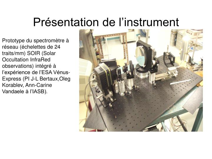 Pr sentation de l instrument