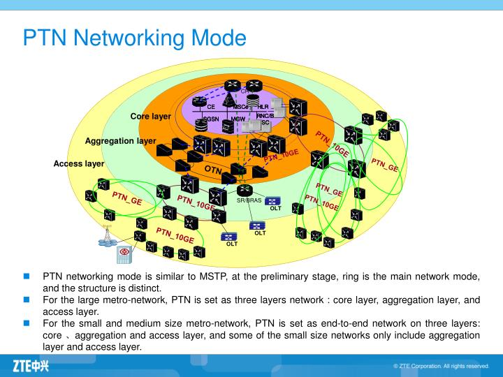 PTN Networking Mode