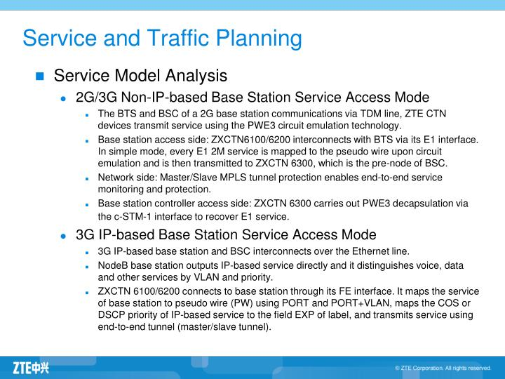 Service and Traffic Planning