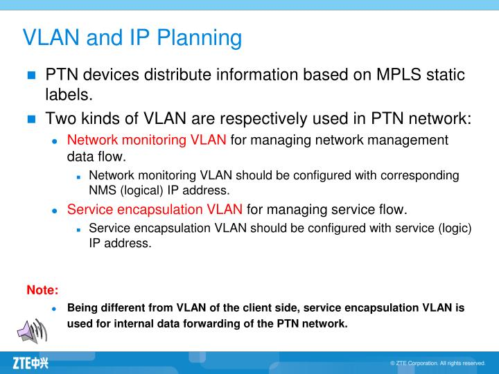 VLAN and IP Planning