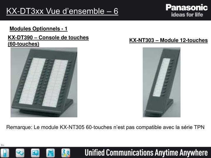 KX-DT3xx Vue d'ensemble – 6