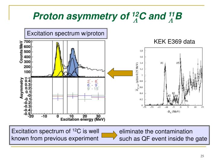 Proton asymmetry of