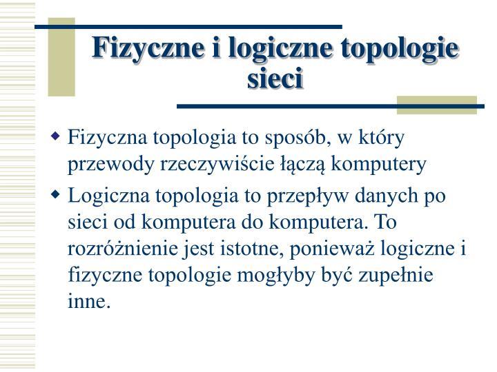 Fizyczne i logiczne topologie sieci