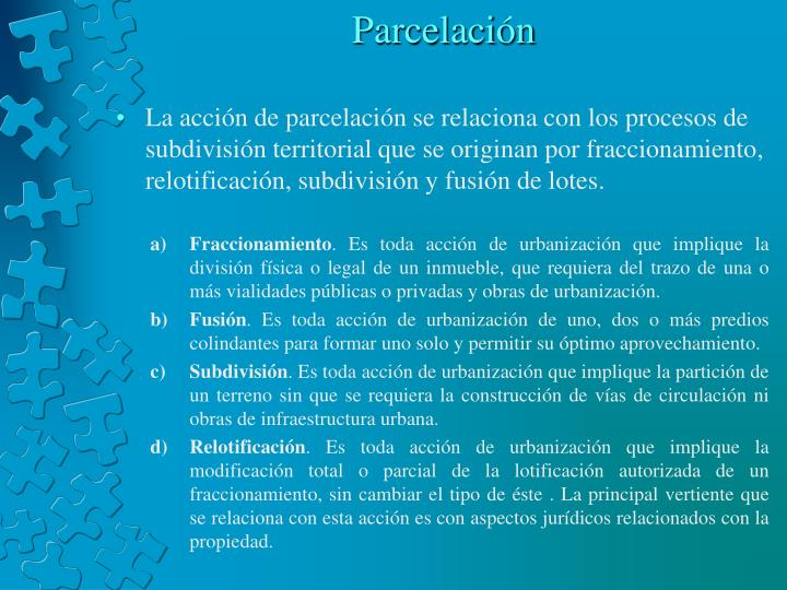 Parcelación