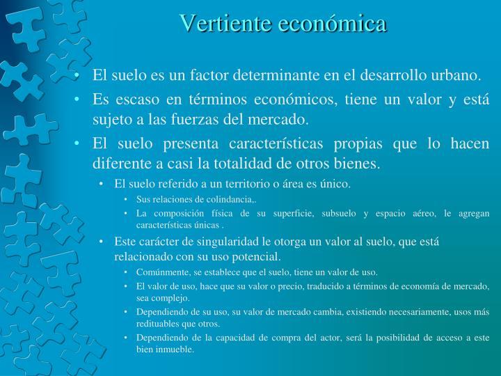 Vertiente económica