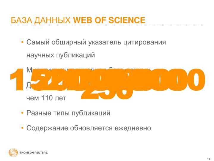 Самый обширный указатель цитирования научных публикаций