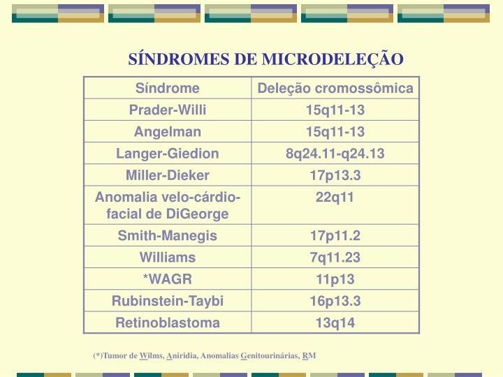 SÍNDROMES DE MICRODELEÇÃO