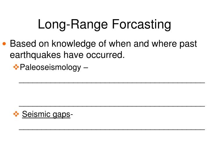 Long-Range Forcasting