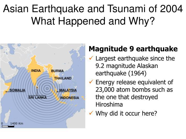 Asian Earthquake and Tsunami of 2004