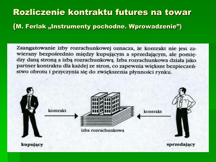 Rozliczenie kontraktu futures na towar