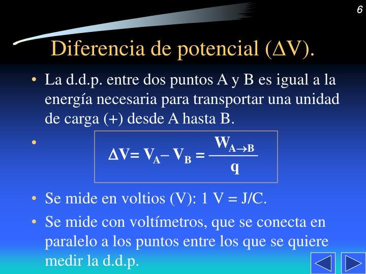 Diferencia de potencial (
