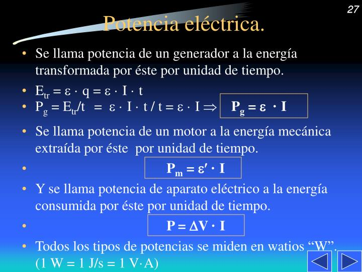 Potencia eléctrica.