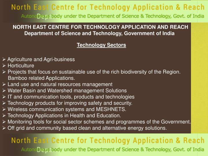 NORTH EAST CENTRE FOR TECHNOLOGY APPLICATION AND REACH