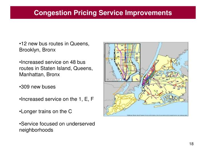 Congestion Pricing Service Improvements