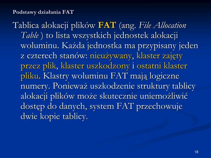 Podstawy działania FAT
