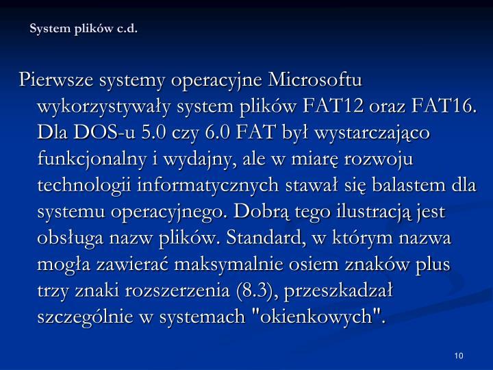 System plików c.d.