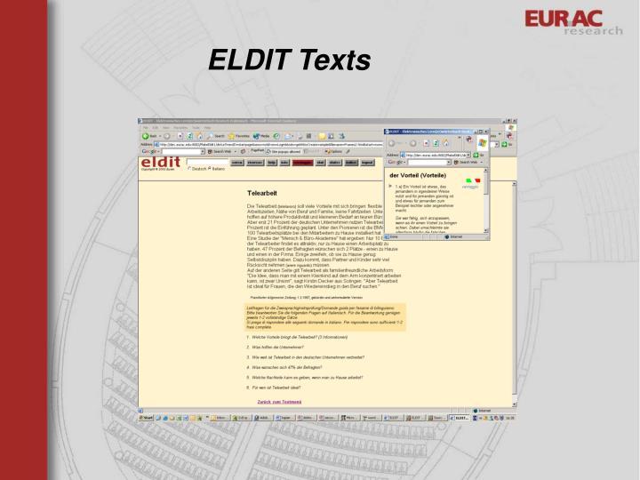 ELDIT Texts