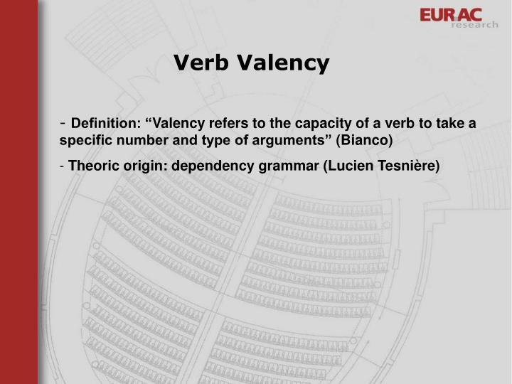 Verb Valency