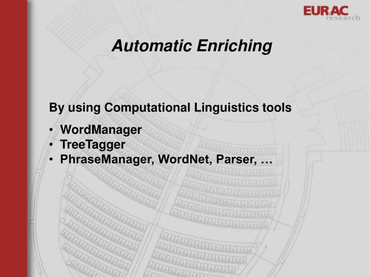 Automatic Enriching