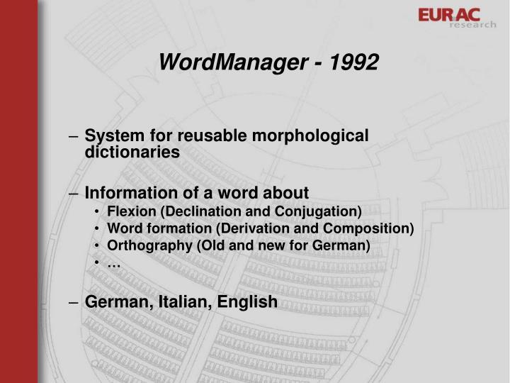 WordManager - 1992