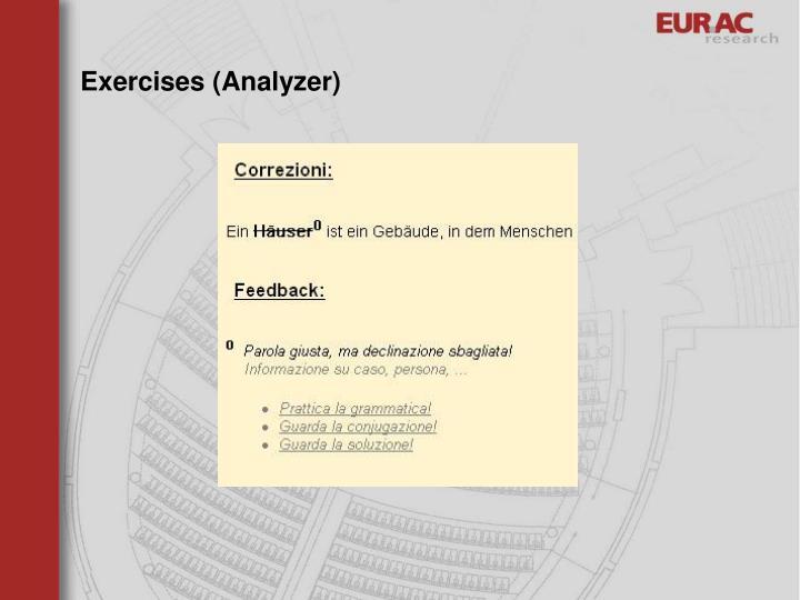 Exercises (Analyzer)