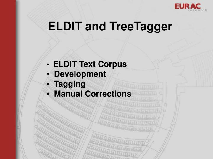 ELDIT and TreeTagger