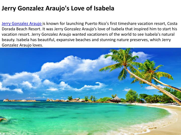 Jerry Gonzalez Araujo's Love of Isabela