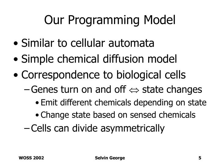 Our Programming Model