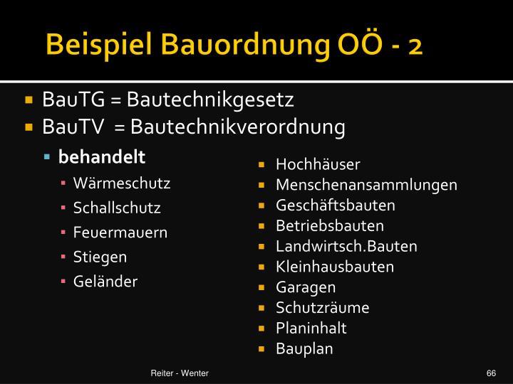 Beispiel Bauordnung OÖ - 2