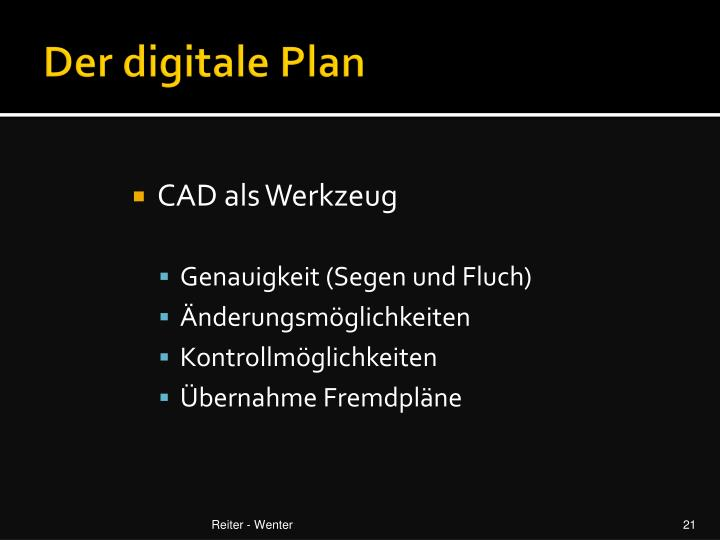 Der digitale Plan