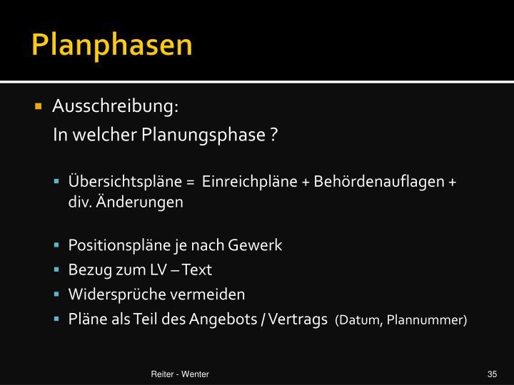 Planphasen