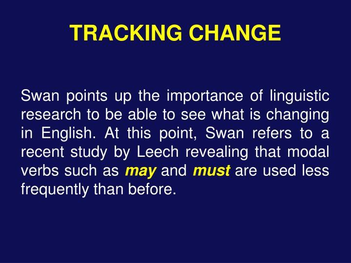 TRACKING CHANGE
