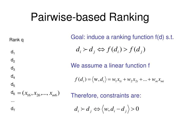 Pairwise-based Ranking