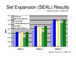 set expansion seal results