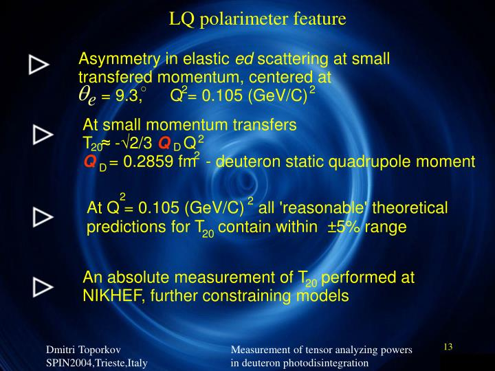 LQ polarimeter feature