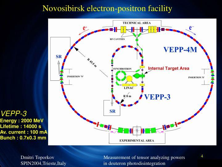 Novosibirsk electron-positron facility