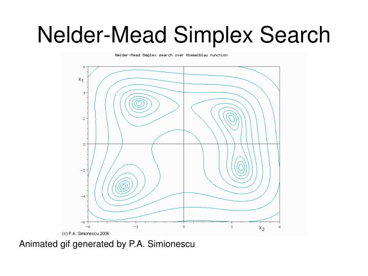 Nelder mead simplex search
