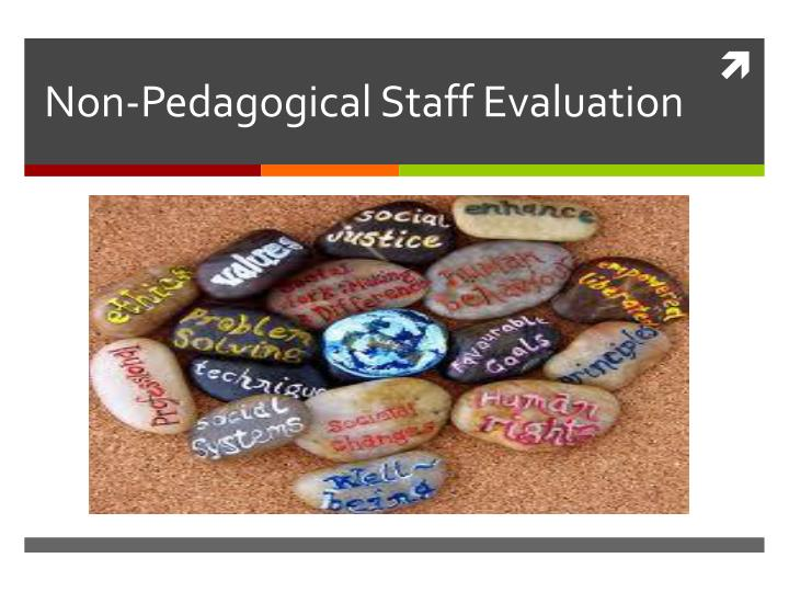 Non pedagogical staff evaluation